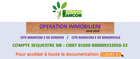 OPERATION IMMOBILIERE MAMCOM 2018-2019